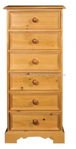 Juline Bespoke 6 Drawer Tallboy Chest 'B'